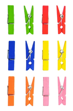 wooden clothes pin color photo