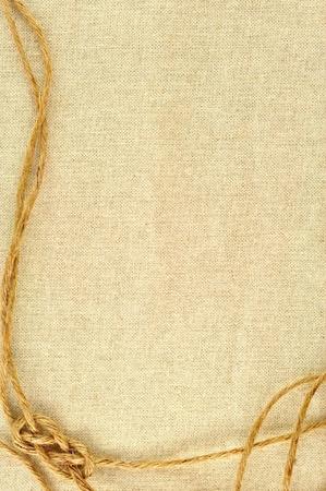 Rahmen aus Seilen mit einer Leinwand aus Sackleinen Standard-Bild - 9784926
