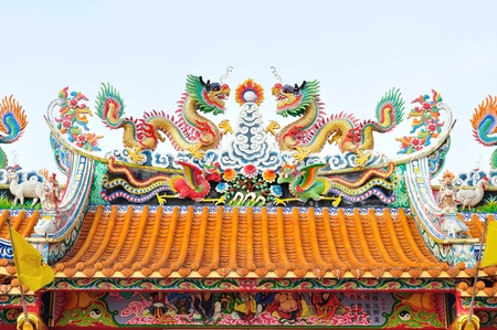 dragon statue on the roof  Stock Photo - 9871521