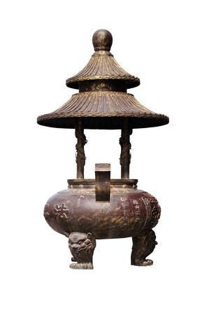 Incense burner isolated on white background, china Stock Photo - 9879069