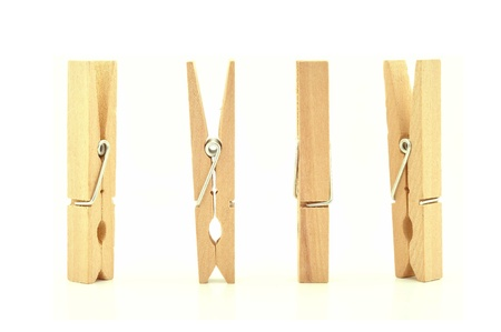 clothes peg: wooden clothes pin with Path