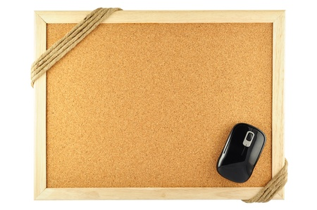 noteboard: cork notice board and mouse