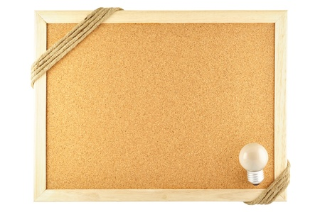 noteboard: cork notice board and lamp