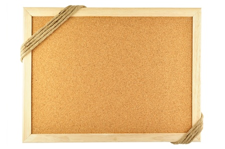 noteboard: cork notice board and rope Stock Photo