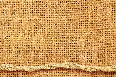 frame of ropes on sack photo