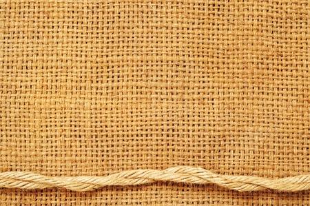 Rahmen von Seilen am Sack Standard-Bild - 12552769