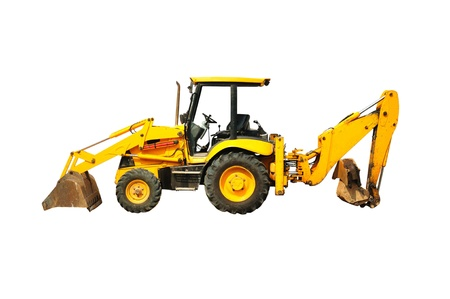 Wheel loader machine  Isolated photo