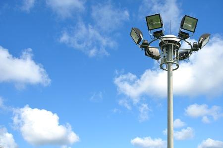 light pole on blusky  Stock Photo - 12880431