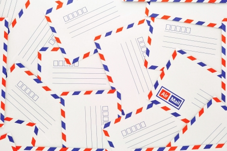 Background from airmail envelopes photo