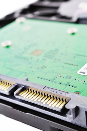 Hardisk SATA-Anschluss auf weißem Hintergrund Standard-Bild - 15915054