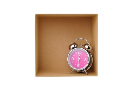 Clock in box, time in success Stock Photo - 16084827