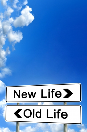 new beginnings: new life or old life Stock Photo