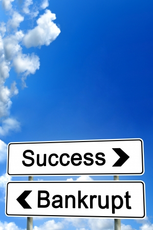 Erfolg oder Bankrott Standard-Bild - 16293949