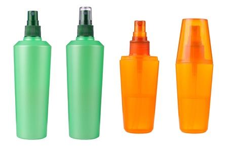 Kosmetische Flaschen isoliert Standard-Bild - 16408259