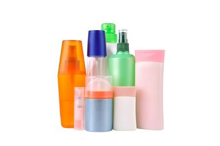 shampoo bottles: set  bottles isolated
