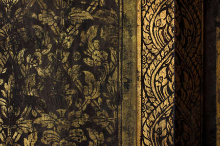 gold texture thai style photo