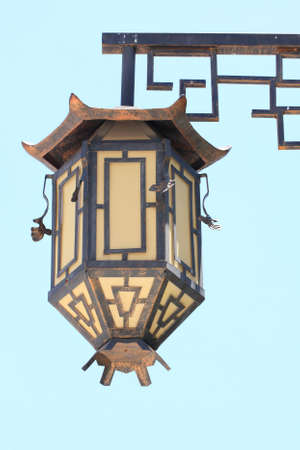 An old lamppost  in chinese style.Thailand. photo