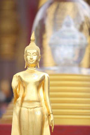 Buddha relics and modeling of Buddha. Wat Pra Pathom Chedi, Thailand. photo