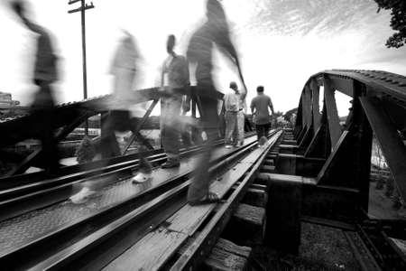 The soul of Death Railway, River Kwai Bridge, Kanchanaburi, Thailand. Stock Photo - 7780643