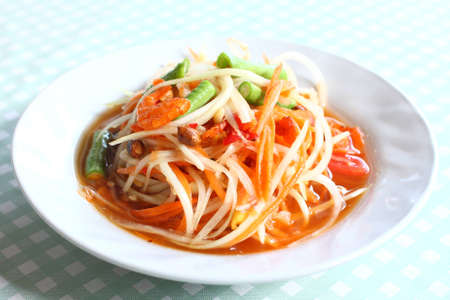 Thai style spicy food, Som Tum Thai. photo