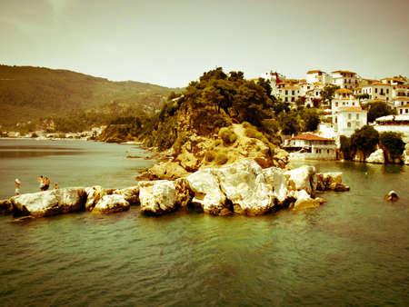 skiathos: Landscape from Skiathos Islands taken from a boat in a summer in Greece