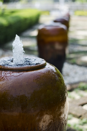 fount: Jar Fountain in Garden