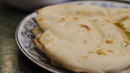 seekh: naan india food restaurant Stock Photo