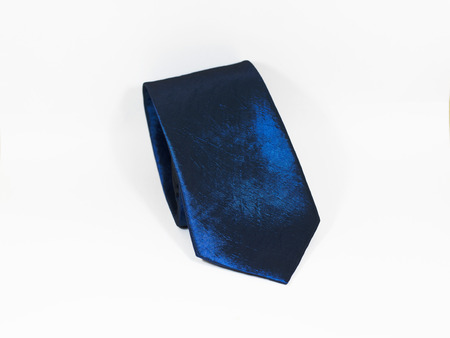 Blue necktie in Isolated background Stock Photo