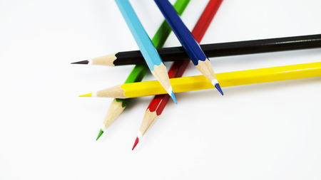 Color Pencils Isolated in white background photo