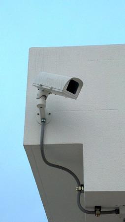 guard house: CCTV Camera on Guard house  Stock Photo
