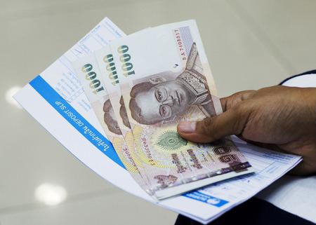 deposit slip: Money saving plan with Bank Deposit slip