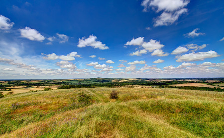 rambling: View from the top of Old Winchester Hill Stock Photo