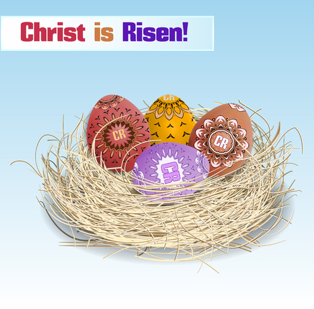 christ is risen easter: Easter. Christ is Risen! Illustration