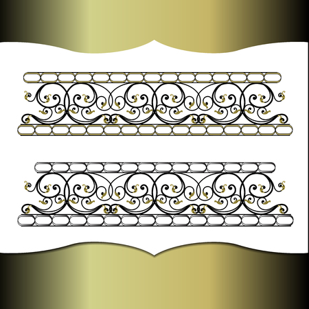 forging: An element of interior design, metal forging. Illustration
