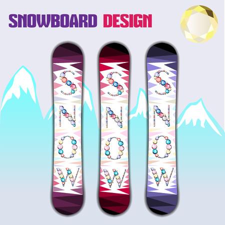 snowboard: Snowboard with diamond design