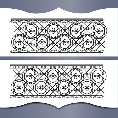 decorative balconies: Metal forging. An element of interior or exterior design. Illustration