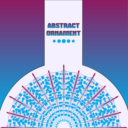 Radial abstract ornament Ilustracja