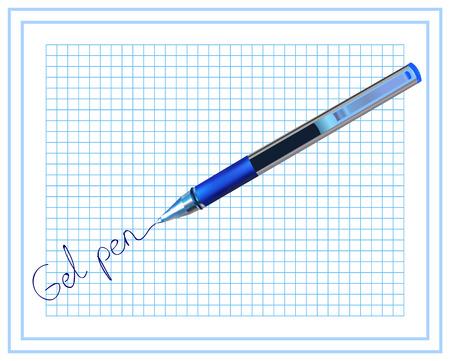 Gel pen. Stationery. Ilustracja