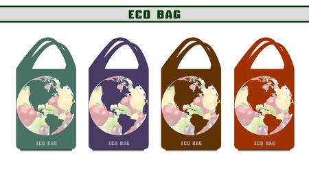 環境バッグ。生態学的なパッケージ。オプションのエコバッグをデザインします。