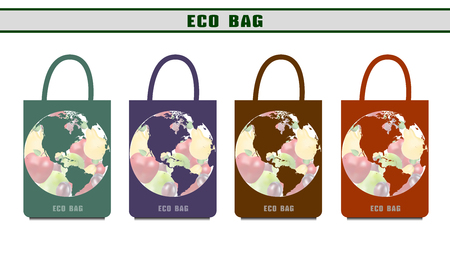Environmental bags. Ecological packages. Design options eco bags.
