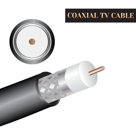 Coaxial TV cable structure. Kind of an electric cable.