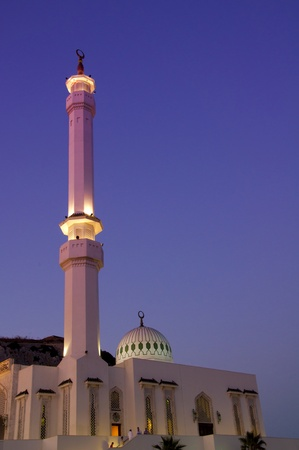 A night scene of the Mosque in Gibraltar. Stock Photo