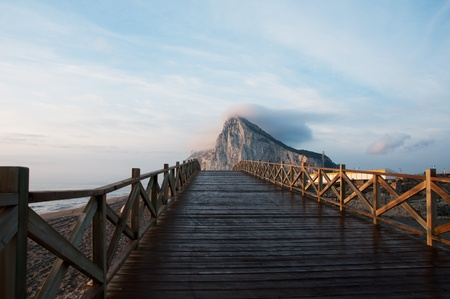 This wooden bridge seems to lead to Gibraltar, but does it?