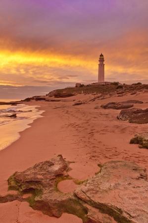 cadiz: The lighthouse near Cadiz where the great battle of Trafalgar took place.