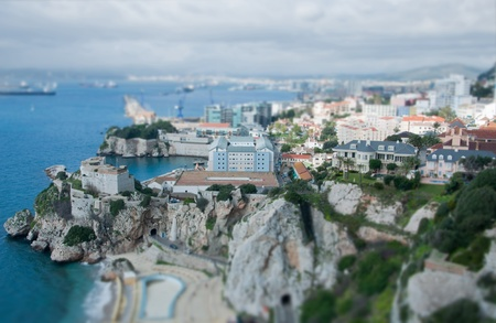 minature: This photograph has a tilt   shift technique which makes the picture look like a small model