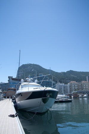 The Ocean Village Marina in Gibraltar with a selection of sailboats Stock Photo - 13571660