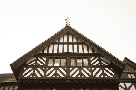 jacobean: A tudor house in the UK in prestine condition.