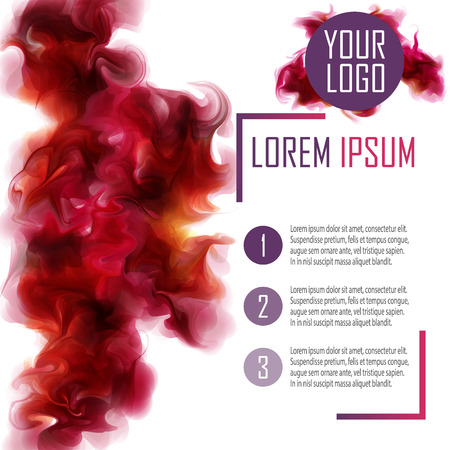 Poster Template. With the purple-wine smoke, which dissolving in the air. Abstract Background for Business Documents,  and Placards.