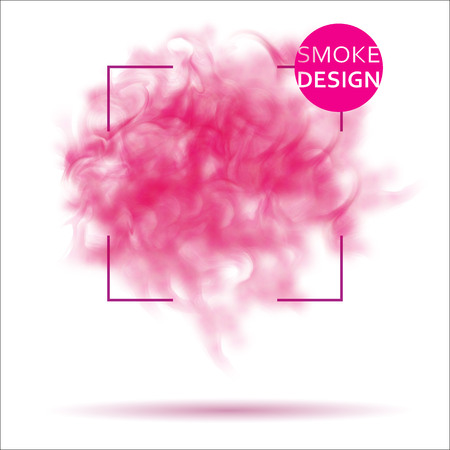 Abstract pink smoke texture template. Steam, cloud realistic texture. Illustration