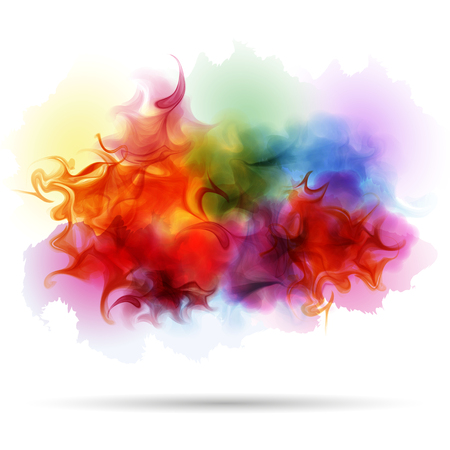 dissolved: Abstract splash colorful smoke background. Realistic texture.